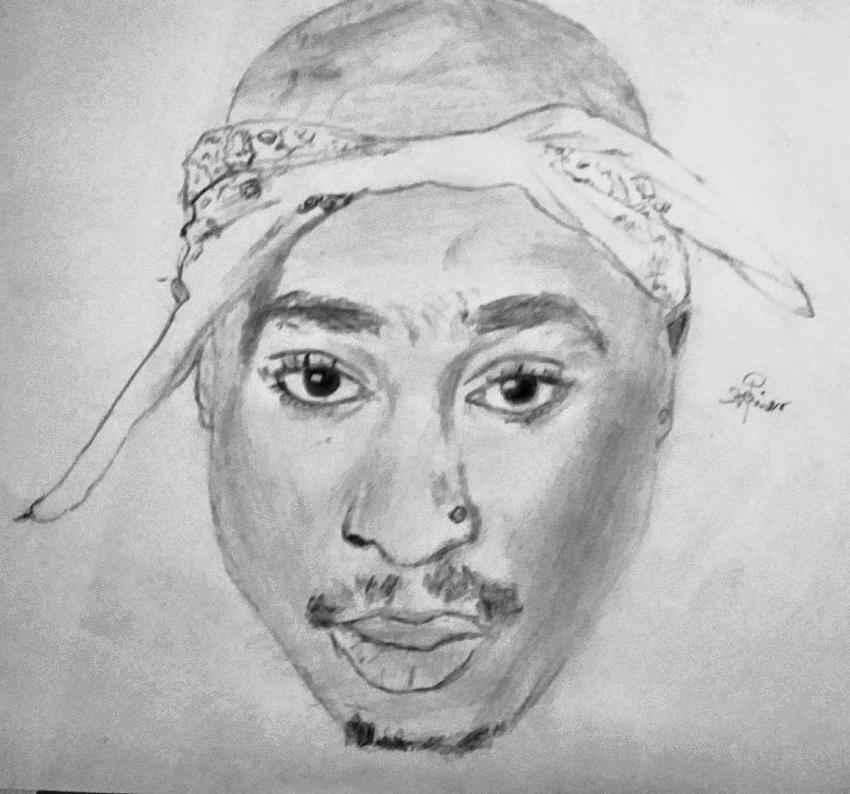 Tupac by psteinerart